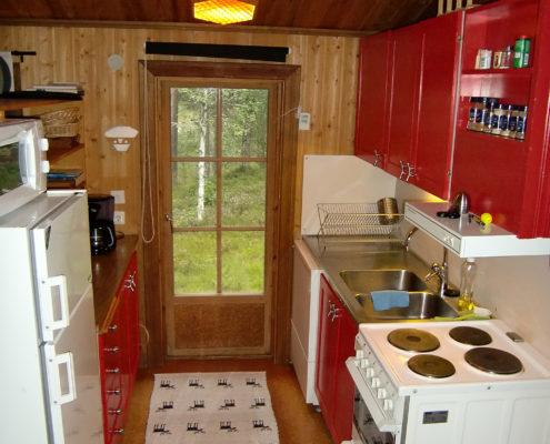 Köket i en av de utbyggda stugorna